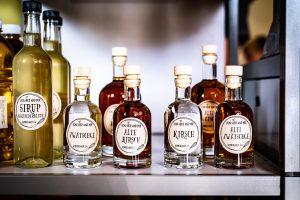 Spirituosen aus der eigenen Produktion